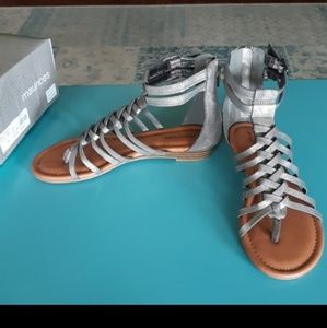 Maurices Jasmine Braid Gladiator Sandals NWT